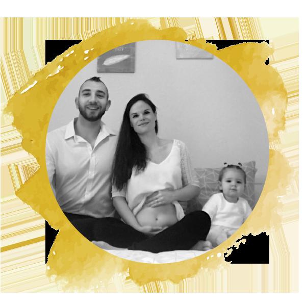 Marine & Gabriel, heureux parents de Mathilda et de sa petite sœur en cours !